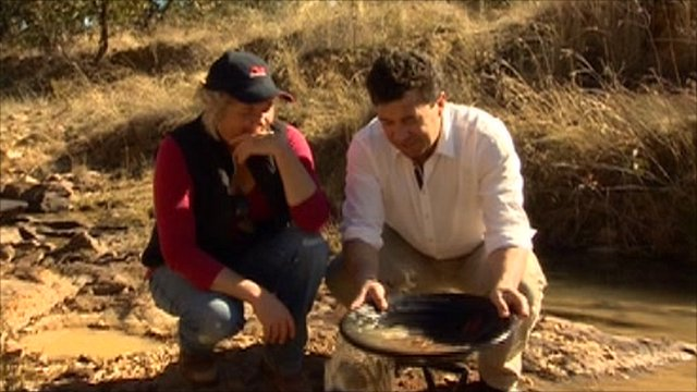 Prospecting for gold in Australia