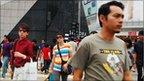 Busy Malaysia street scene