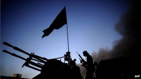 Rebels in Abu Salim, Tripoli (25 August 2011)