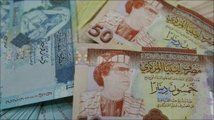 Libyan currency. Picture courtesy of Bhas Solanki
