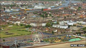Great Yarmouth from the air (Photo: Mike Page)