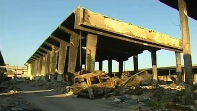 Destroyed building in Misrata