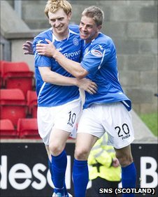 Liam Craig (left) was on target for St Johnstone