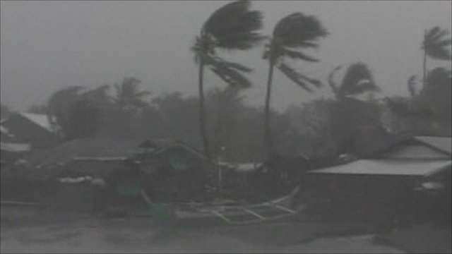 Typhoon hits Philippines