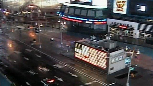 Times Square empty