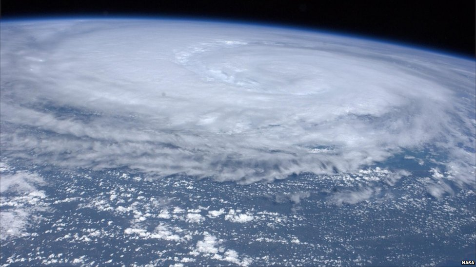 Sky-Watching NASA image or Irene from space ISS