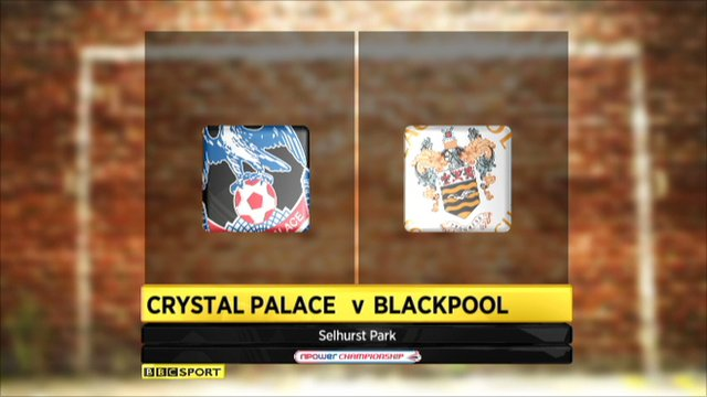 Crystal Palace 1-1 Blackpool