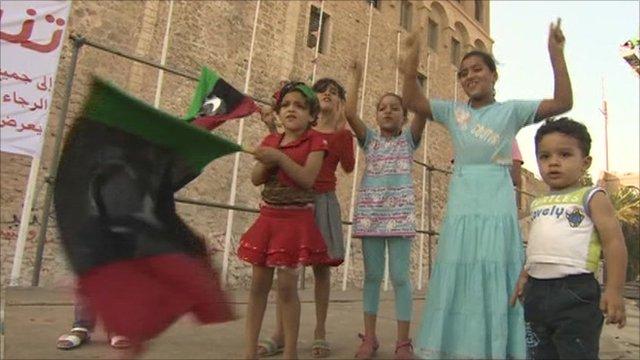 Children celebrate