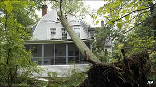 House damaged in Maryland