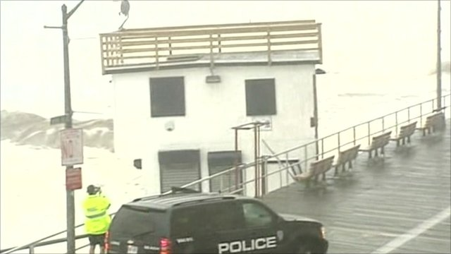 The building as it hits the pier