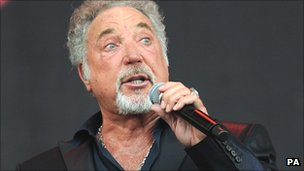 Sir Tom Jones at Glastonbury in 2009