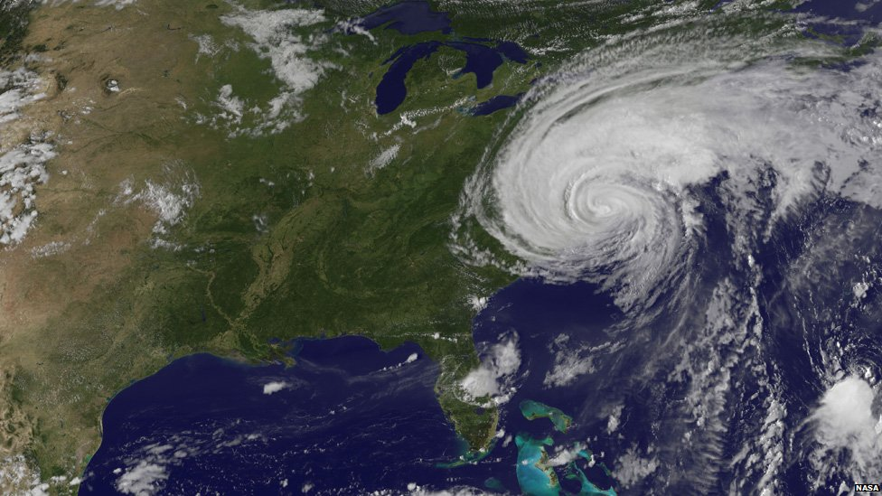Hurricane Irene churns of the east coast of the United States, August 27