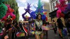 Women on parade at the Notting Hill Carnival