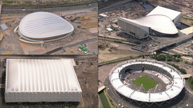 Four of the venues being used at next year's Paralympic Games in London