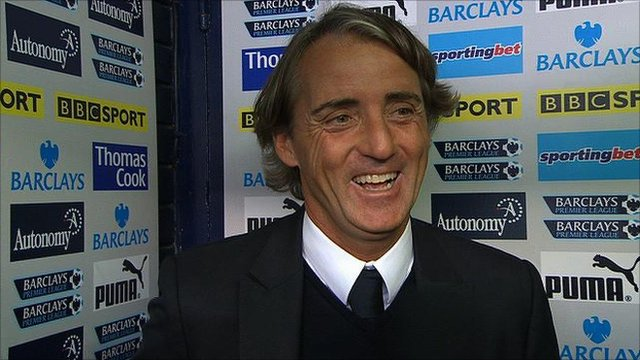 Manchester City boss Roberto Mancini