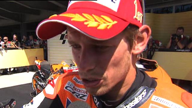 MotoGP championship leader Casey Stoner