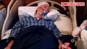 Abdelbaset al-Megrahi at his Tripoli home. Image courtesy of CNN