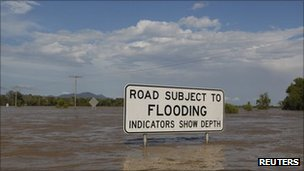 Flooding in Rockhampton on 4 January 2011