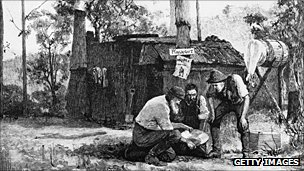 Australian prospectors, in an 1851 engraving