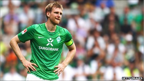 Werder Bremen&#039;s Per Mertesacker