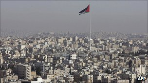 Giant Jordanian flag in Amman