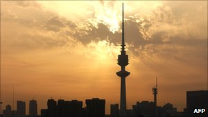 Skyline of Kuwait with Liberation Tower