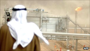 Gathering centre at Kuwait's Al-Rawdatain oil field