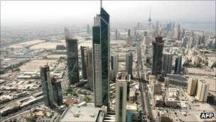 View of Kuwait skyline from Al-Hamra tower