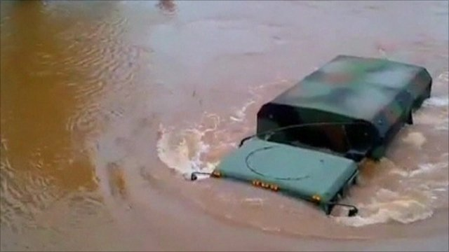 A submerged vehicle