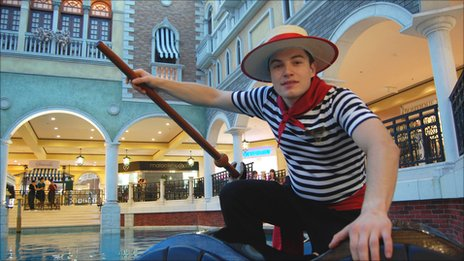 Gondolier in Macau