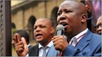 South African youth leader of the ruling African National Congress (ANC), Julius Malema on April 21, 2011