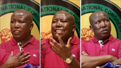 Julius Malema during a news conference in Johannesburg on 29 August, 2011