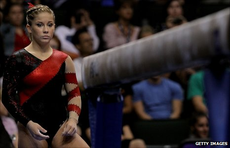 Shawn Johnson at the National Championships