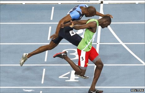 Kirani James (right) claims gold