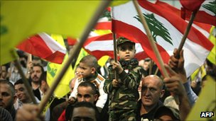 Rally of Hezbollah supporters