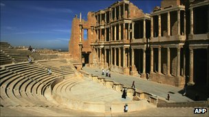 Roman-era theatre in Sabratha, Libya