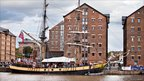 Ship in Gloucester docks during the 2011 Tall Ships Festival