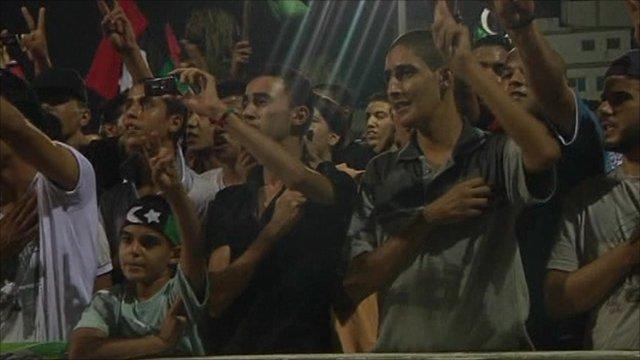 Celebrating Libyans
