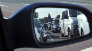 Traffic in mirror