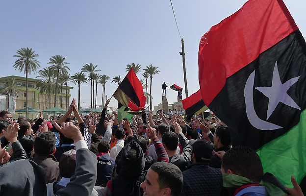 Demonstration in the Tripoli area of Tajoura, 4 March