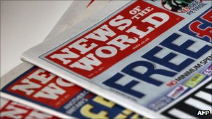 Copies of News of the World