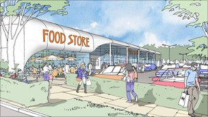 Artist's impression of new food store