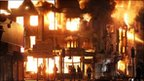 Furniture store on fire in Croydon (8 August 2011)