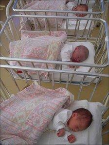 Newborn babies, Jagodina hospital