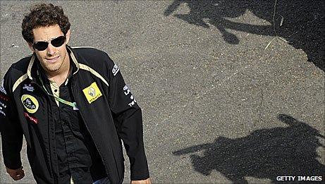 Renault driver Bruno Senna
