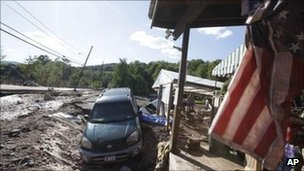 Post-Irene damage in Windham, NY (30 August 2011)