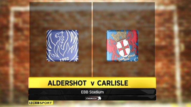 Aldershot 2-0 Carlisle