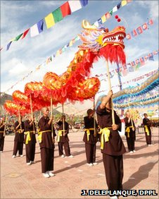 The Dragon Dance at the Annual Drukpa Council in Ladkah.