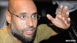 Saif al-Islam Gaddafi in Tripoli, 23 August 2011