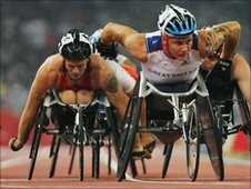 Britain's Dave Weir leads the field in Beijing